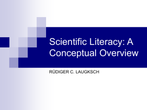 Scientific Literacy: A Conceptual Overview