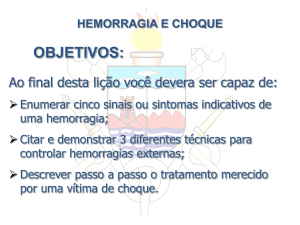 HEMORRAGIAS E CHOQUE