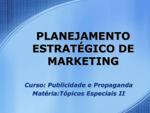 Plano de marketing do