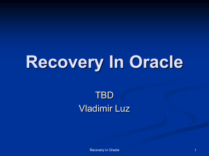 Recovery In Oracle