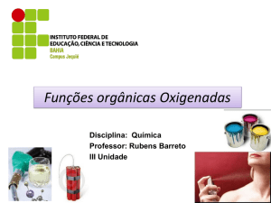 3. Classes funcionais de compostos orgânicos