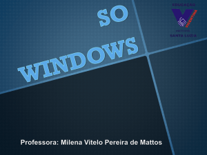 SO WINDOWS Professora: Milena Vitelo Pereira de Mattos