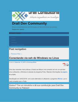 Conectando via ssh do Windows no Linux : Drall Dev Community