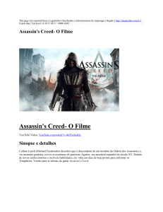 Assassin`s Creed- O Filme : o Legalzinho Classificados e