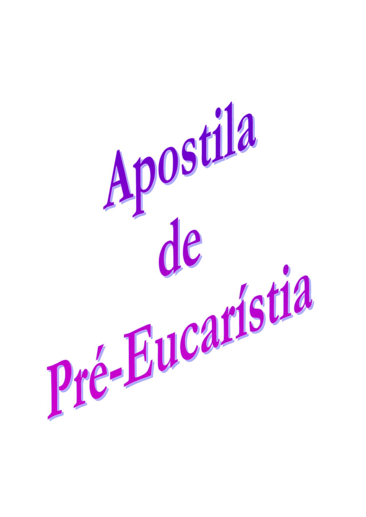 Apostila De Pre Eucaristia