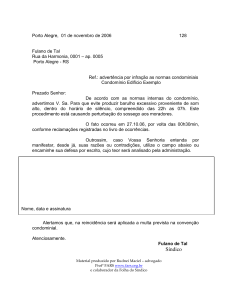 Carta de Advertência