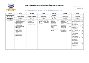8º Ano 1 do Ensino Fundamental - Colégio Franciscano Santíssima