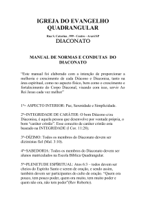 manual do diacono - Diaconato Quadrangular Avaré