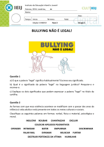 bullying não é legal!