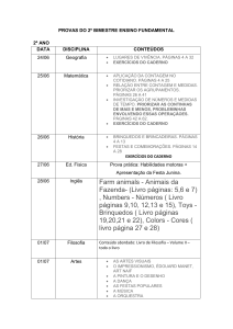 PROVAS DO 2º BIMESTRE ENSINO FUNDAMENTAL 2º ANO DATA