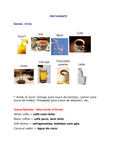 Outras Bebidas - Other kinds of Drinks