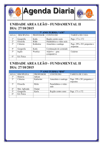 "unidade area leão - fundamental ii dia: 27/10/2015 7º ano turma ""am"""
