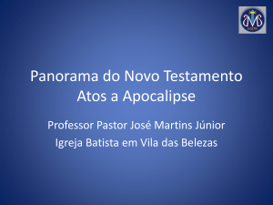 Panorama do Antigo Testamento Jó a Malaquias
