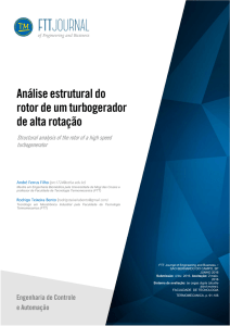 de alta rotação - FTT Journal of Engineering and Business