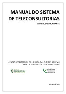 Manual do solicitante - Telessaúde