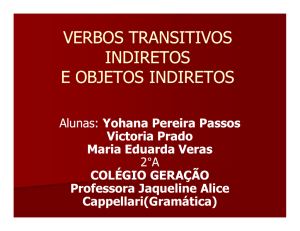 verbos transitivos indiretos e objetos indiretos