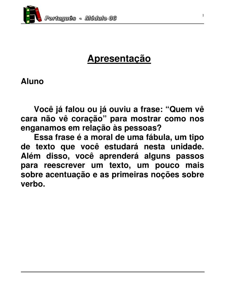 Apostila De Língua Portuguesa Eja Ef 6