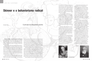 Skinner e o behaviorismo radical