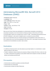 Administering Microsoft® SQL Server® 2014 Databases