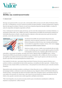 BDRs na contracorrente