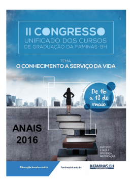 Anais II Congresso Unificado 2016