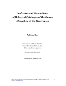 Leafcutter and Mason Bees: a Biological Catalogue of the
