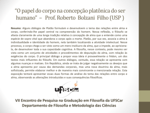 O papel do corpo na concepção platônica do ser humano