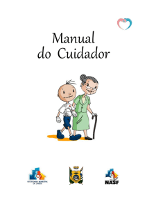 Manual Do Cuidador - Prefeitura Municipal de Ponta Grossa