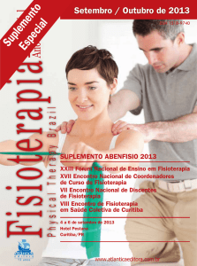 Physical Therapy Brazil Suplemento especial