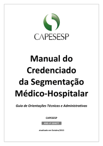 Manual do Credenciado da Segmentação Médico