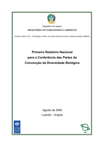 CBD First National Report - Angola (Portuguese version)