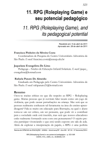 11. RPG (Roleplaying Game)
