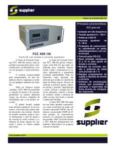 FCC 400-10i - Supplier Indústria