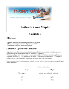 Aritmética com Maple