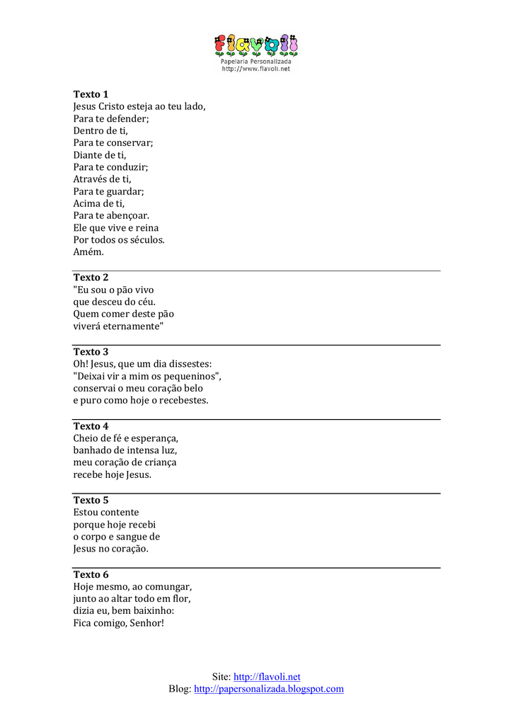 Frases Para Primeira Comunhão