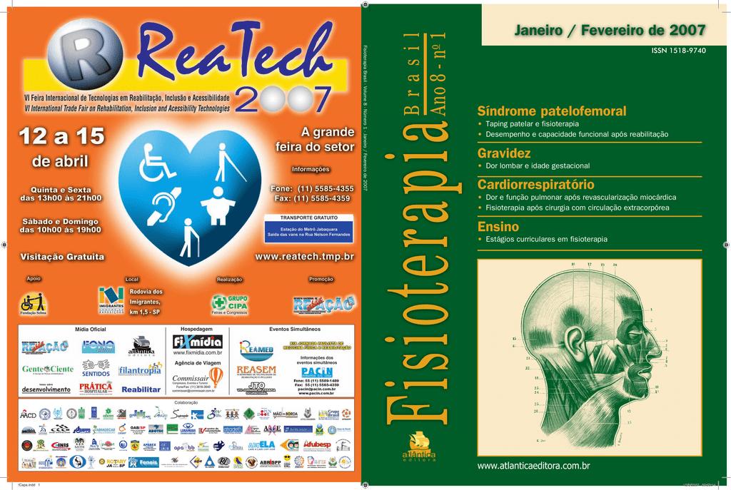 ba2e4708b Fisioterapia Brasil Ano 8 - no 1 Fisioterapia Brasil - Volume 8 - Número 1  - Janeiro   Fevereiro de 2007 Colaboração Janeiro   Fevereiro de 2007 ISSN  ...