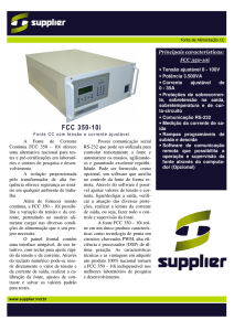 FCC 350-10i - Supplier Indústria