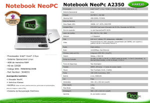 Notebook NeoPc A2350