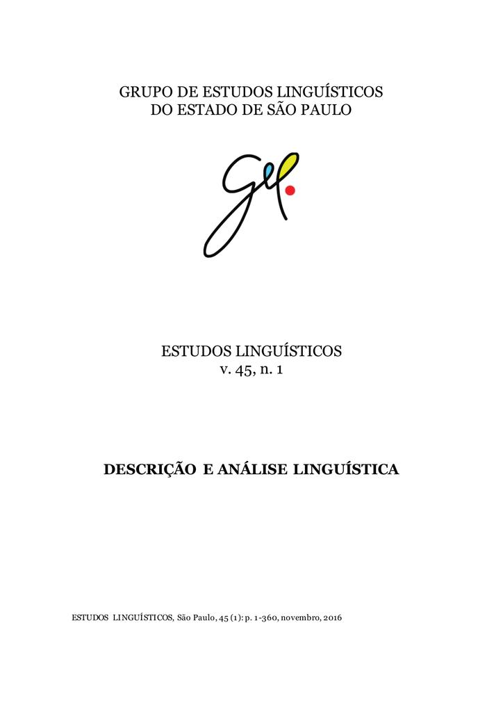 Grupo de estudos lingusticos do estado de so fandeluxe Image collections