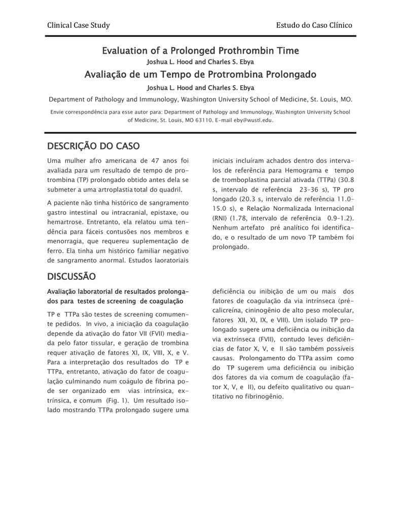 tempo de tromboplastina parcial ativada elevada