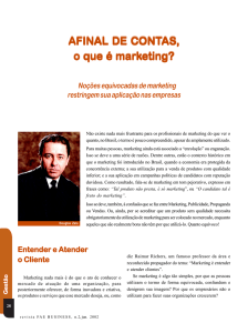 Afinal de Contas, o que é marketing?
