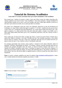 Tutorial do Sistema Acadêmico - Unifal-MG