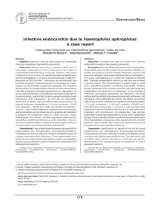Infective endocarditis due to Haemophilus aphrophilus