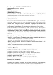 Programa comportamental IV - PUC-SP
