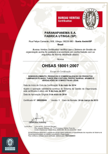 ohsas 18001 - Paranapanema