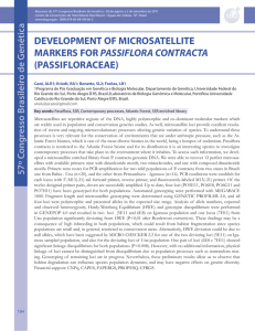 development of microsatellite markers for passiflora contracta