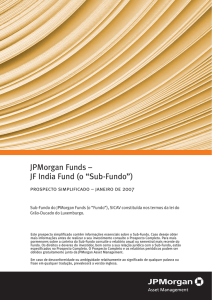 "JPMorgan Funds – JF India Fund (o ""Sub-Fundo"")"