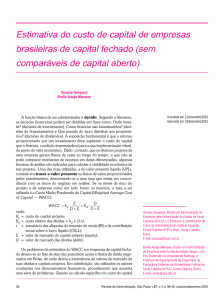Estimativa do custo de capital de empresas brasileiras de capital