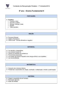 6º ano – Ensino Fundamental II