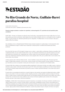 No Rio Grande do Norte, Guillain-Barré paralisa hospital